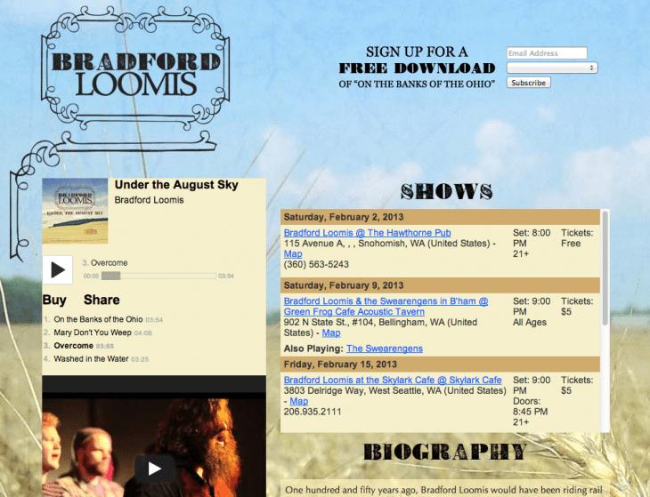 bradford loomis screenshot